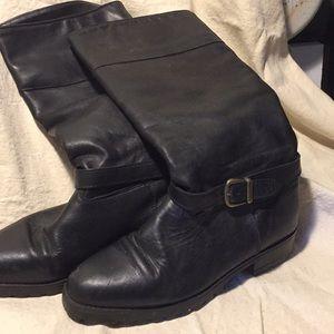 La Canadienne leather, waterproof boots, black.